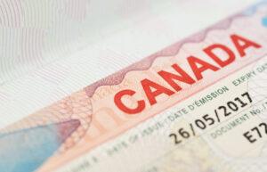 Macro view of Canadian Passport